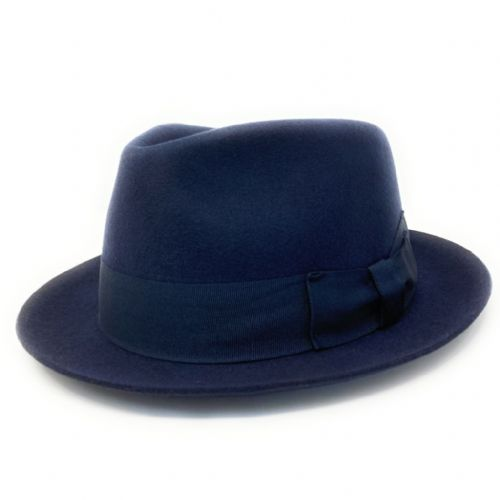 Navy Snap Brim Trilby Hat - Pennsylvania